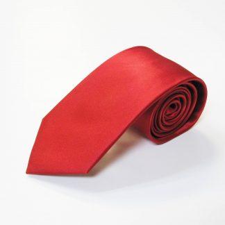 """63"""" XL Red Solid Silk Men's Tie 4428-0"""