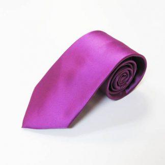Bright Purple Solid Men's Tie w/Pocket Square 1562-0