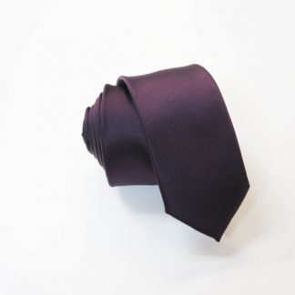 Purple Solid Skinny Men's Tie 2289-0