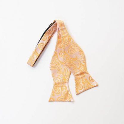 Orange Paisley Self Tie Bow Tie 10948-0