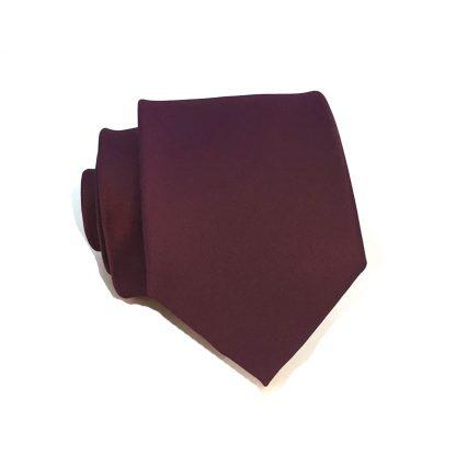 Burgundy Solid Skinny Tie 7071-0