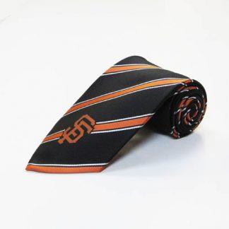 MLB San Fransisco Giants Black Orange Stripe Men's Tie 6157-0