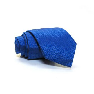 Royal Blue Tone on Tone Small Squares Men's Skinny Tie w/Pocket Square 9647-0