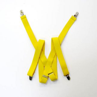 "Bright Yellow Solid 1"" Suspenders 2202-0"