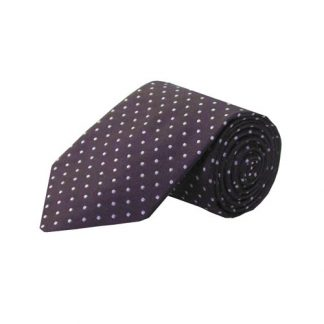Eggplant w/Gray Dots Men's Tie 10244-0