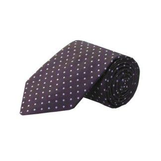 Eggplant w/Gray Dots Men's Tie 10244-0