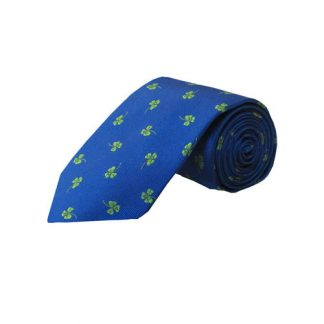 Blue w/Green Clovers Men's Tie 5445-0