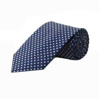 Navy, Gray Small Diamond Men's Tie 1336-0