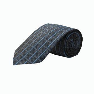 Charcoal, Blue, Black Crisscross Men's Tie 3402-0