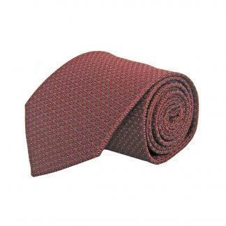 Burgundy Square Dot Men's Tie 3917-0