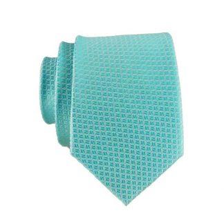 77fc9ec0bca7 Turquoise Small Squares Tone on Tone Skinny Men's Tie w/Pocket Square 9178