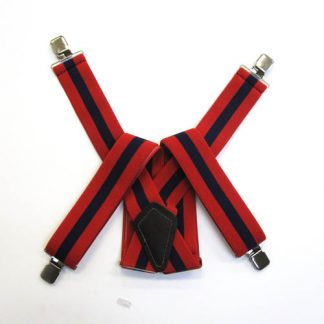 Red, Navy Stripe Suspenders 2053-0