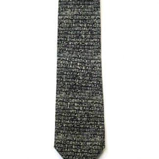 Hieroglyphics Rosetta Stone Silk Men's Tie 5050-0