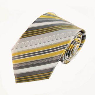 """63"""" XL Yellow, Gray, White Stripe Men's Tie 5874-0"""