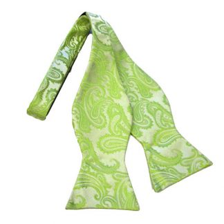 Lime Paisley Tone on Tone Self Tie Bow Tie 10959-0