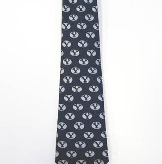 BYU Silver Logo All Over Men's Tie 11268-0