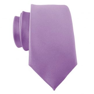Lavender Solid Men's Skinny Tie w/ Pocket Square 11409