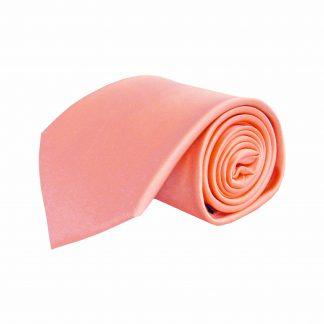 Peach Solid Men's Tie w/Pocket Square 4959-0