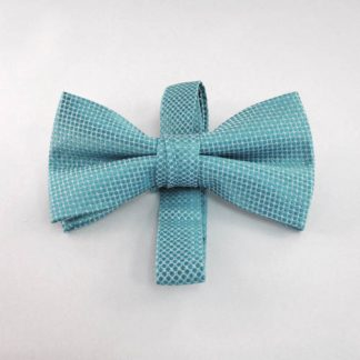 Turquoise Tone on Tone Banded Bow Tie 2312-0