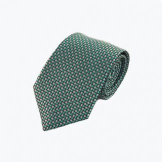 Turquoise, Gray Small Squares Men's Tie 2351-0