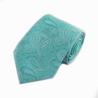 Turquoise Paisley Tone on Tone Men's Tie 3976-0