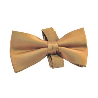 "Gold 2"" Solid Silk Band Bow Tie 5975-0"