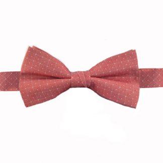 Medium Red Diamond w//Dot Banded Bow Tie 7879-0