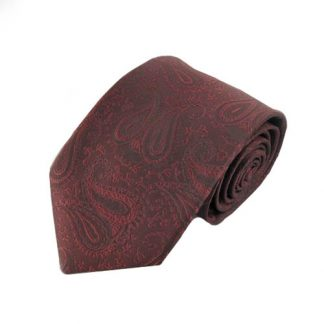 Burgundy Paisley Tone on Tone Men's Tie 3913-0