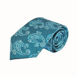 Teal, Turquoise Paisley Men's Tie 8808-0