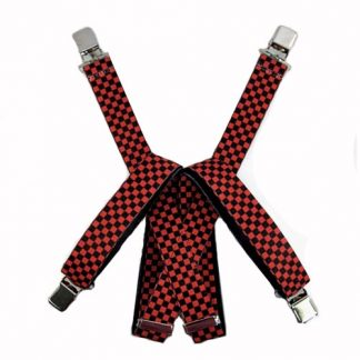 Red, Black Checker Suspenders 2730-0