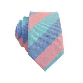 "Boy's 49"" Aqua Lavender & Pink Wide Stripe 3528"