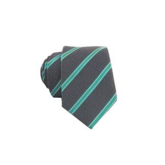 Skinny Gray & Turquoise Men's Tie 5028