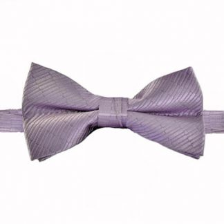 Lavender Solid Tone on Tone Small Rectangle Banded Bow Tie 4567-0