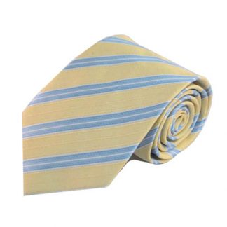 "63"" XL Light Yellow, Blue Stripe Men's Tie 4615-0"