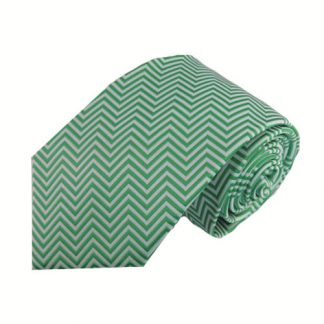 Dark Mint, Silver Chevron Men's Tie 9131-0