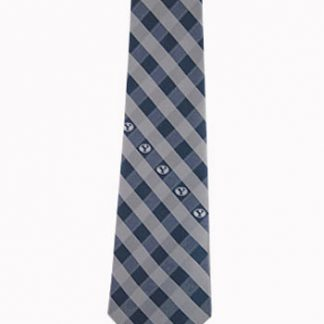 BYU Navy, Silver Checker Men's Tie 10647-0