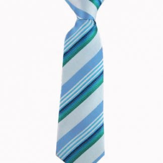 "8"" Boy's Clip Turquoise, Teal Stripe 1103-0"