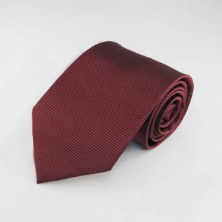 Burgundy Solid Tone on Tone Stripe Men's Tie 11159-0