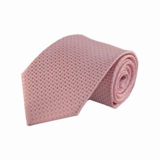 Pink, Pale Pink Small Squares Men's Tie 11095-0