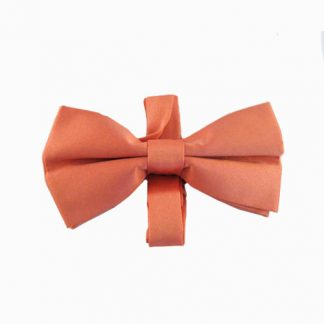 Salmon Solid Banded Bow Tie 2734-0