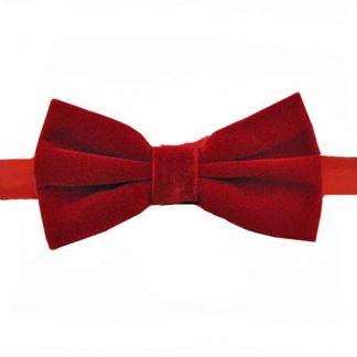 Red Velvet Banded Bow Tie 3123-0