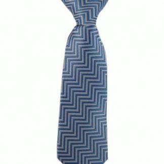 "8"" Boy's Clip Blue & Gray Zig Zag 3994-0"