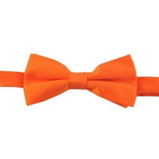 Orange Solid Banded Bow Tie 7612-0