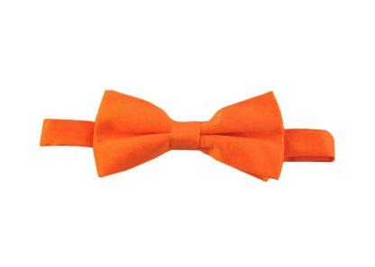Orange Solid Banded Bow Tie 7612-0