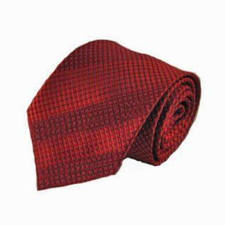 Red Basket Weave Men's Tie 1026-0