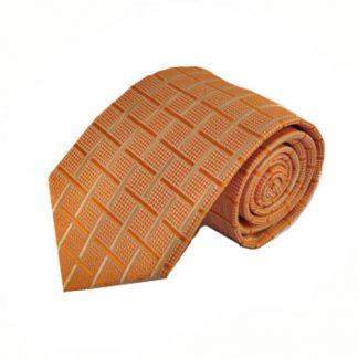 Orange, Cream Criss Cross Men's Tie 10617-0