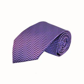Purple & Black Chevron Stripe Men's Tie 11094-0