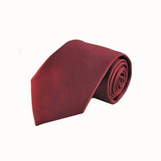 Burgundy Solid Men's Tie w/Pocket Square 11149-0