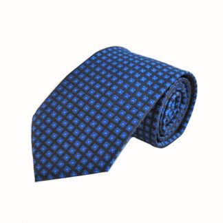 Royal Blue, Navy Small Squares Men's Tie 11490-0