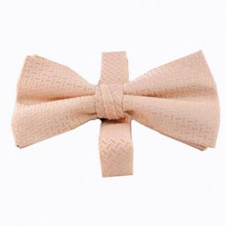 Pale Pink Solid Tone on Tone Band Bow Tie 11500-0